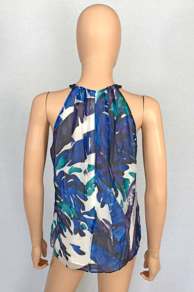 Worth New York Multi Color Silk Floral Print Sleeveless Top / Sz 0