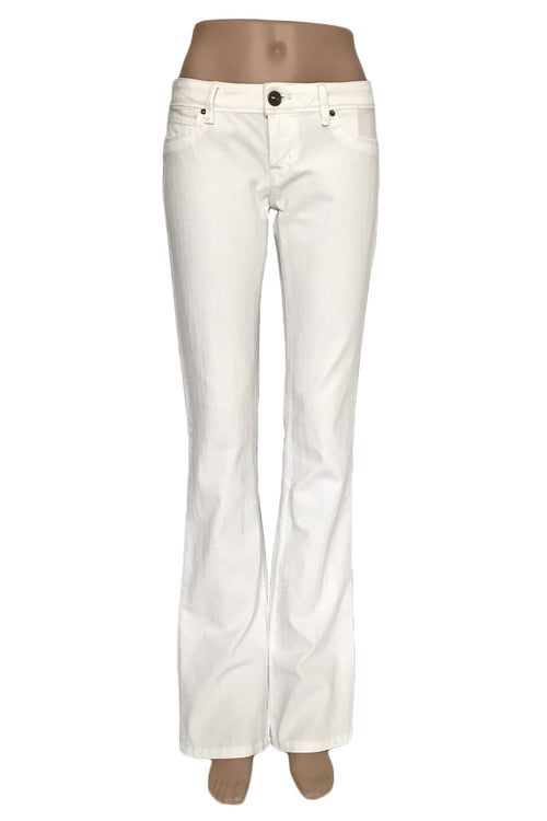 DL1961 White 4-Way Stretch Denim Cindy Slim Bootcut Jeans / Sz 27