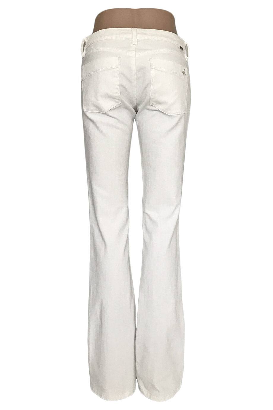 DL1961 White 4-Way Stretch Denim Cindy Slim Bootcut Jeans / Sz 27-Style Therapy