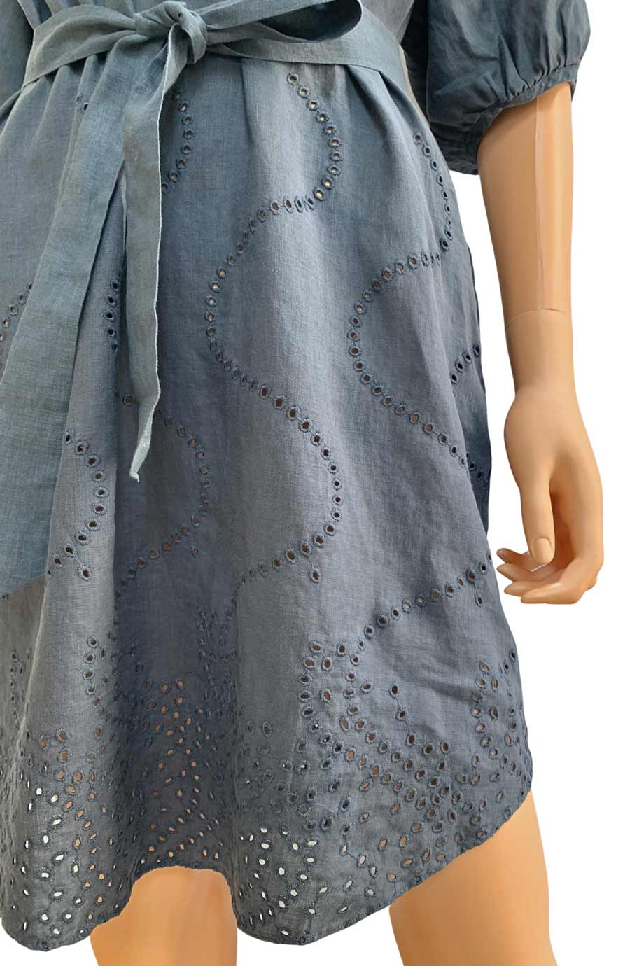 Diane von Furstenberg Gray Linen Kyle Cover Up Dress / Sz M