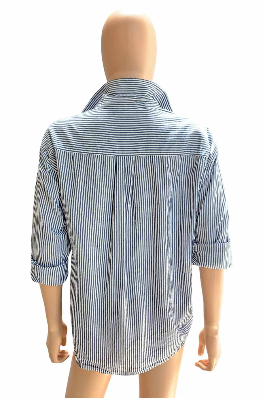 Vince Navy Stripe Long Sleeve Prep School Button-Up Shirt / Sz 6