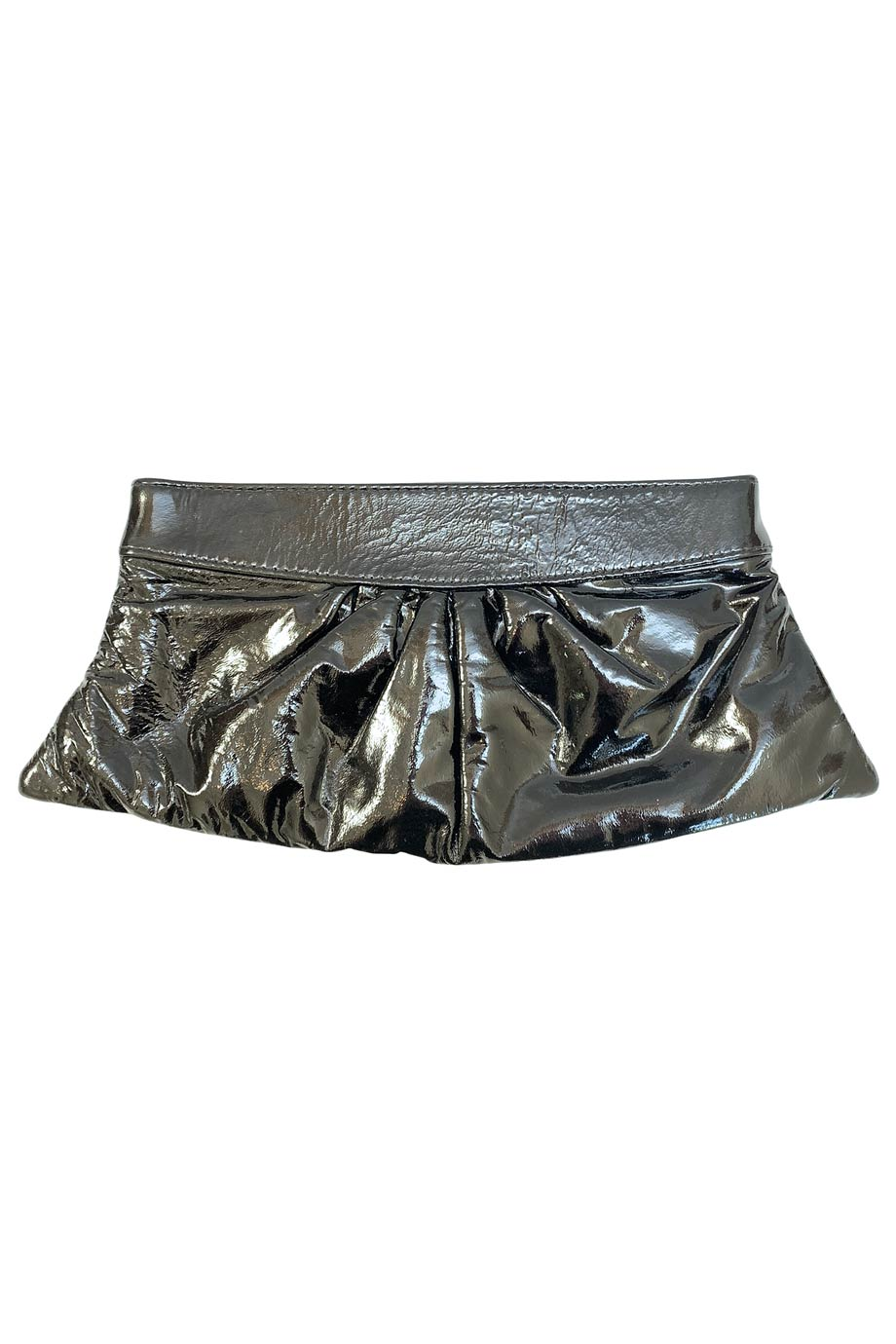 Lauren Merkin Black Patent Leather Clutch Bag