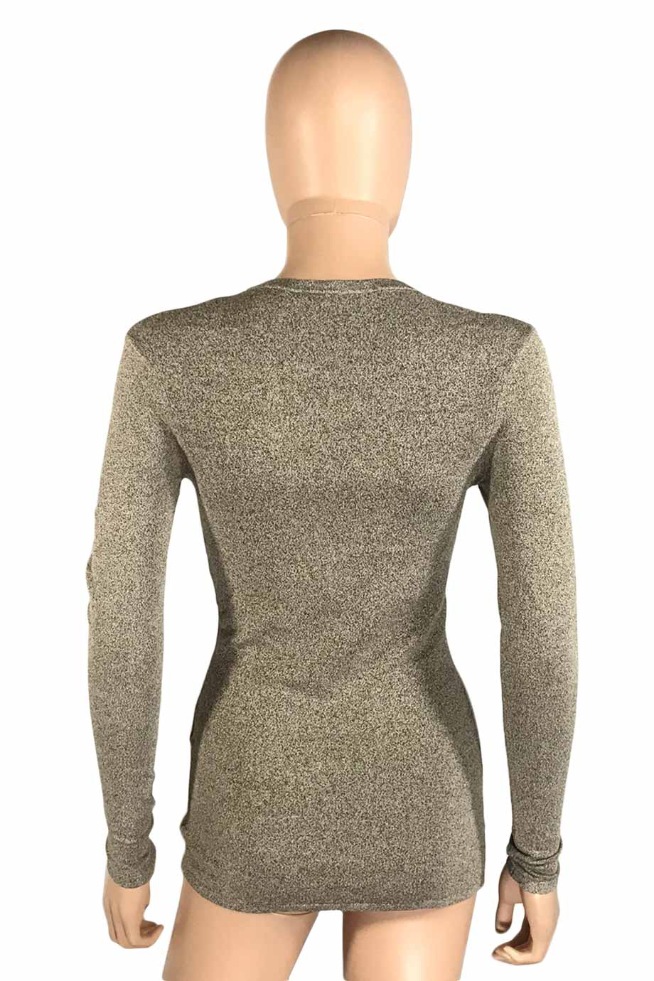 IRO Beige Lace-Up V-Neck Long Sleeve Alida Knit Top / Sz XS-Style Therapy