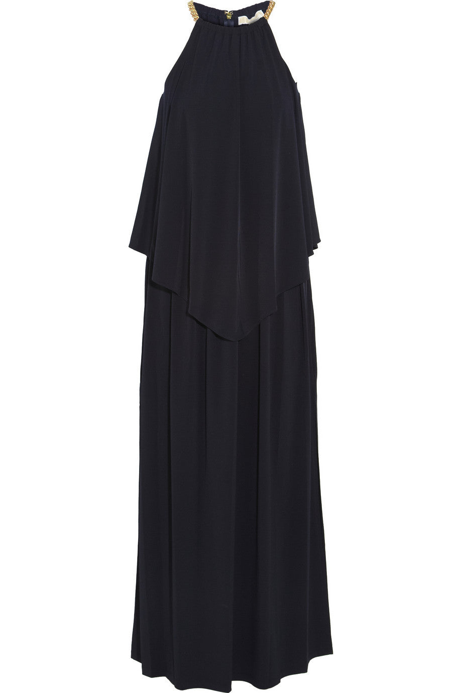 MICHAEL By Michael Kors Chain Detail Navy Jersey Maxi Dress / Sz S - Style Therapy  - 1