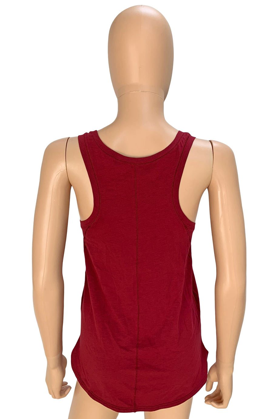 Lululemon Dark Red Knit Racerback Sleeveless Tank Top / Sz 6