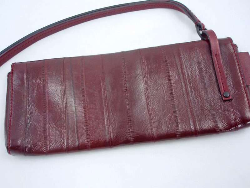 Gucci Sleek Burgundy Red Eel Skin Leather Clutch Bag - Style Therapy  - 5