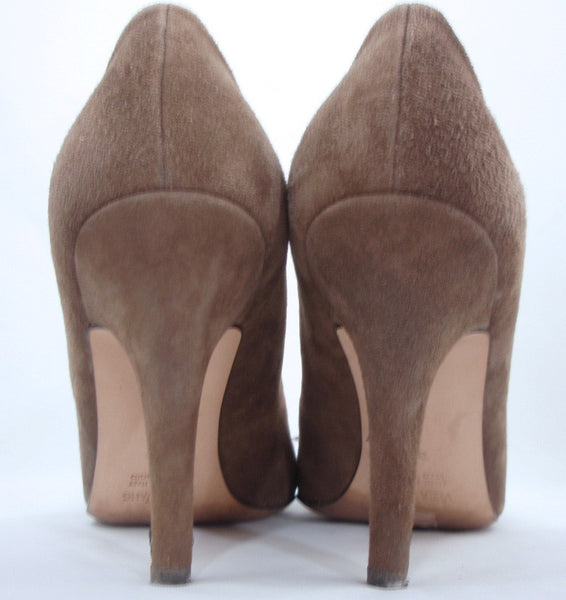 Vera Wang Brown Suede + Rose Gold Pumps / Sz 39