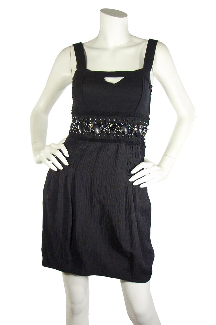 Jessica by Christopher L Beaded Black Cocktail Dress / Sz 4-Style Therapy