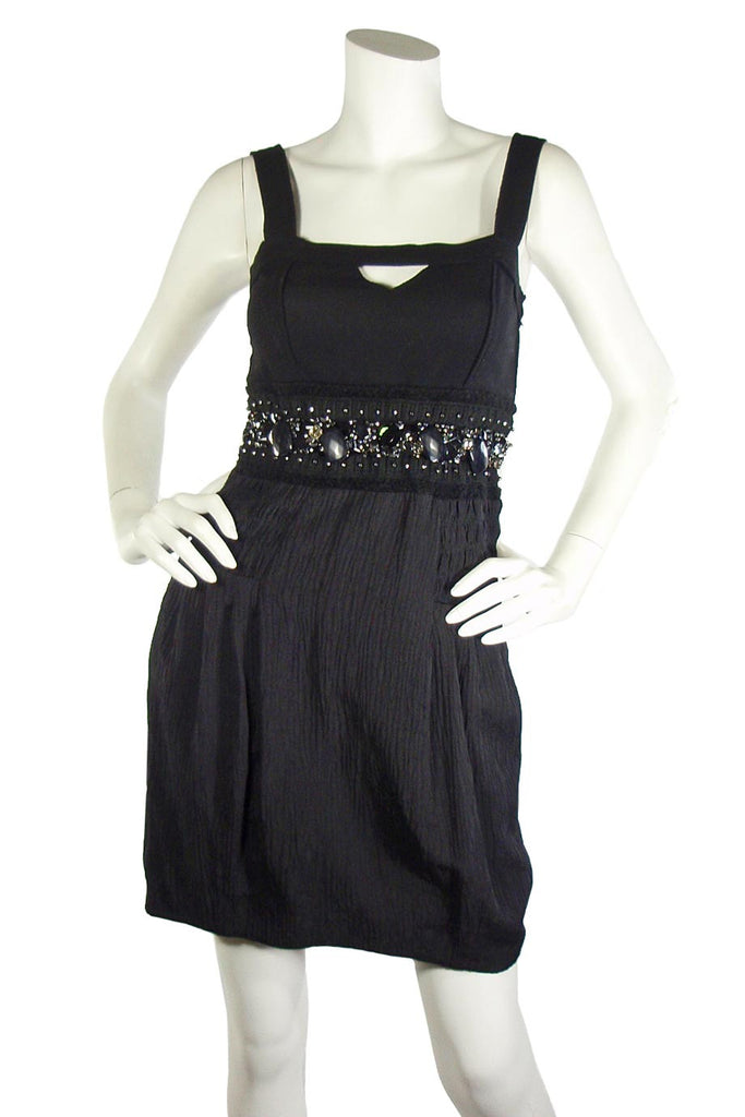 Jessica by Christopher L Beaded Black Cocktail Dress / Sz 4