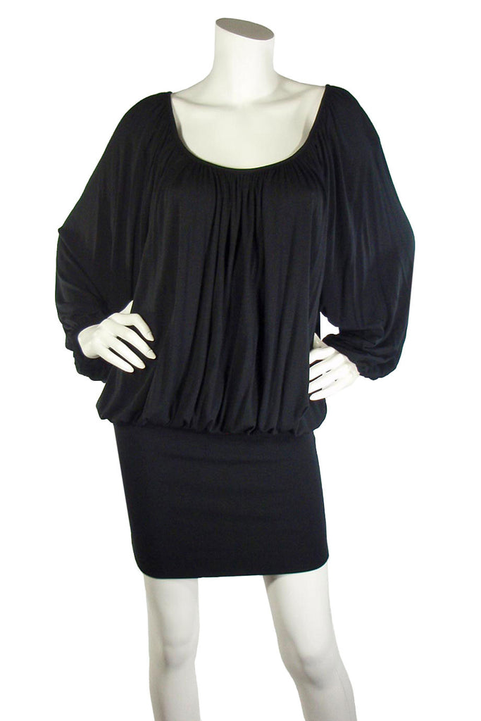 Rachel Pally Black Modal Jersey Knit Luella Mini Dress / Sz S