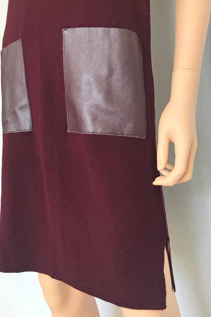 W by Worth Port Red Wool Knit Sleeveless Sweater Dress / Sz XS-Style Therapy