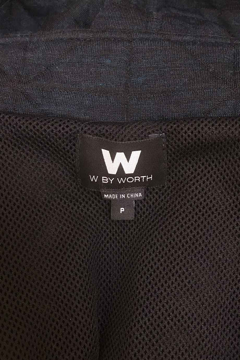 W by Worth Dark Heather Blue Short Dolman Sleeve Jacket / Sz P-Style Therapy