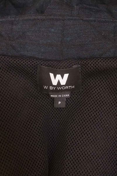 W by Worth Dark Heather Blue Short Dolman Sleeve Jacket / Sz P
