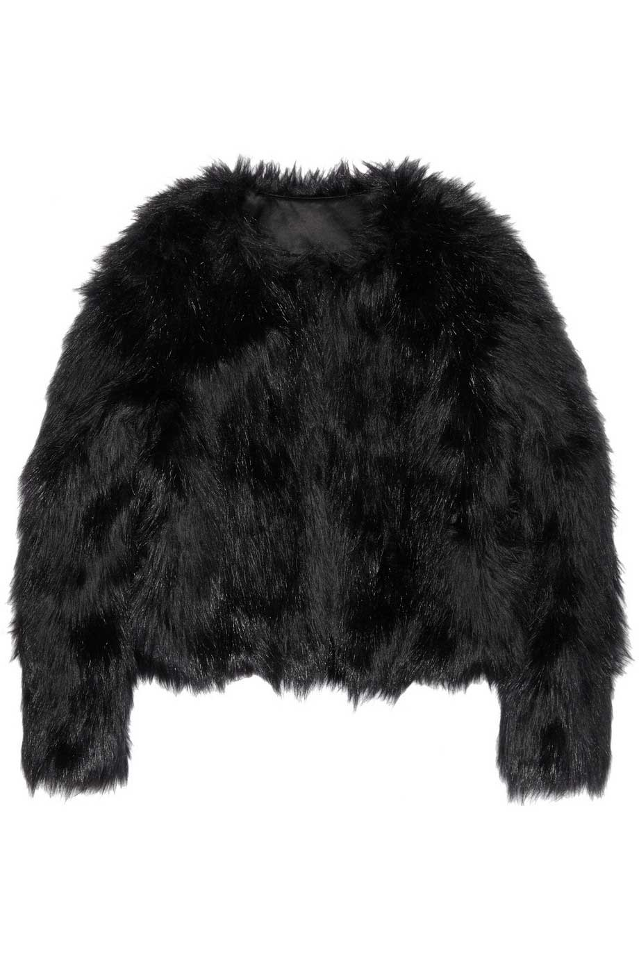 Altuzarra For Target Limited Edition Black Faux Fur Jacket / Sz S