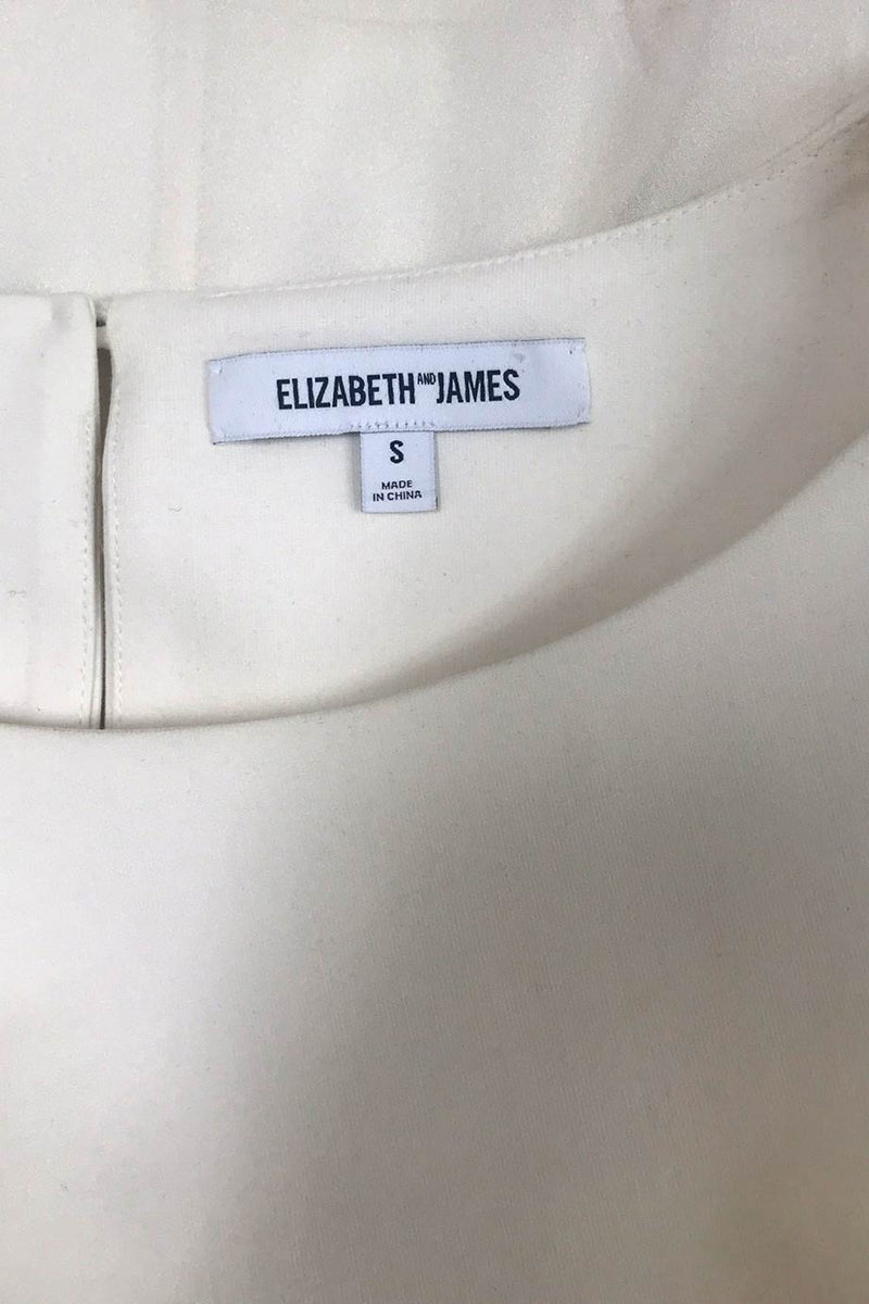 Elizabeth and James Cerise Ivory Jersey + Silk Crepe Top / Sz S-Style Therapy