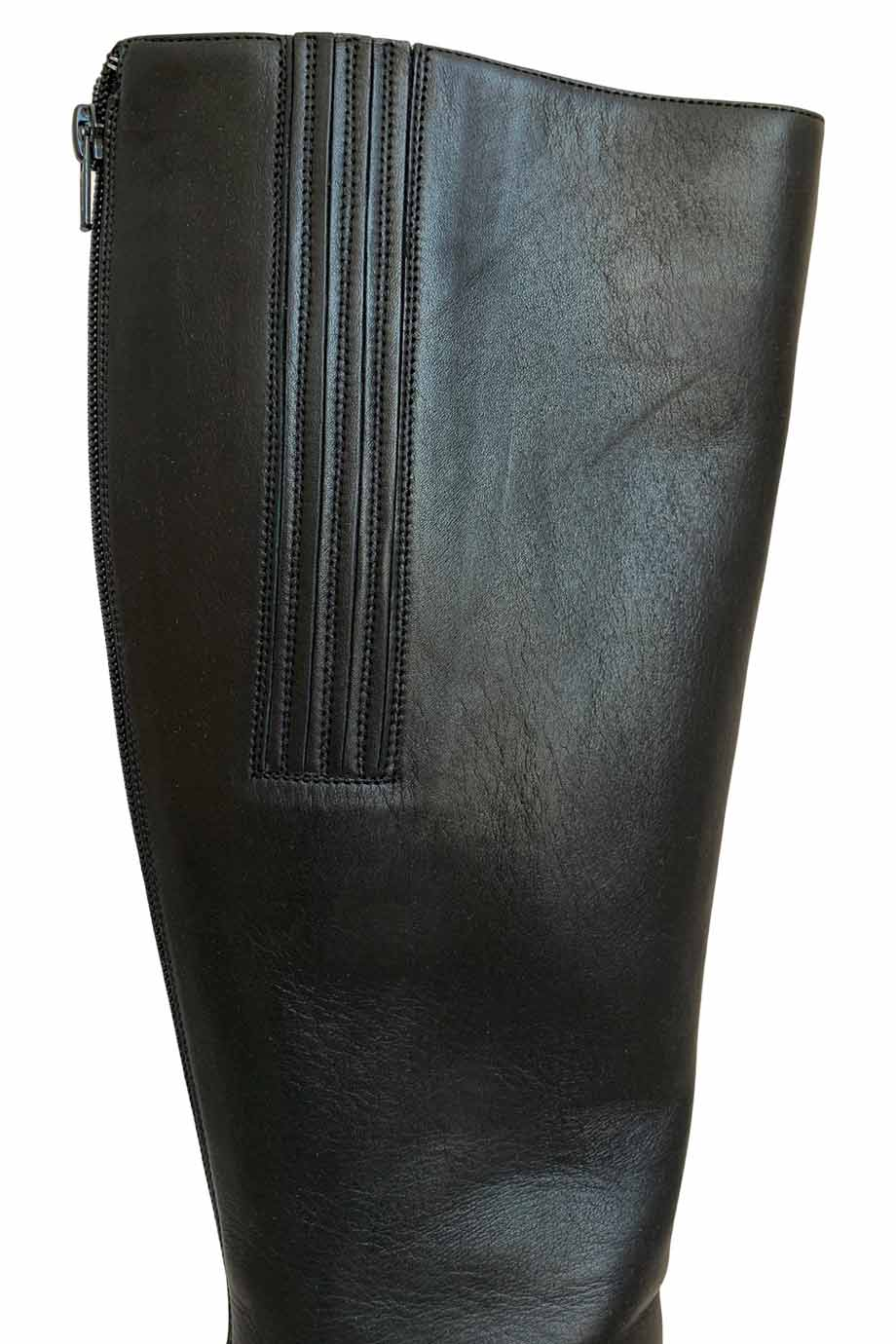 Christian Louboutin Black Leather Knee-High Bourge 100 Boots / Sz 39
