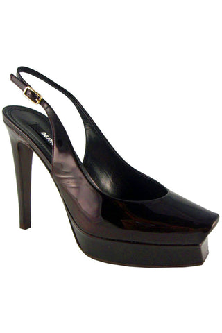 Berny Demore Patent Leather Platform Slingbacks / Sz 36.5 - Style Therapy  - 1
