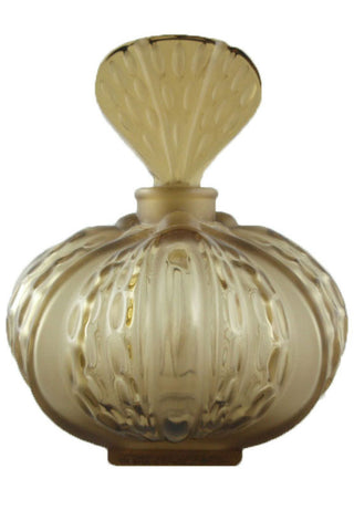 Lalique Olive Green Crystal Mirabel Perfume Bottle - Style Therapy  - 1
