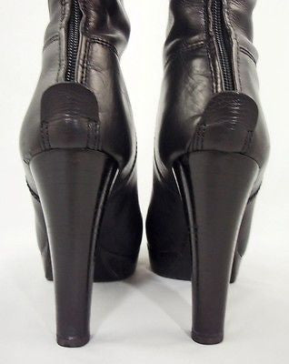 Ralph Lauren Collection Black Leather Platform Boots / Sz 6.5 - Style Therapy  - 7