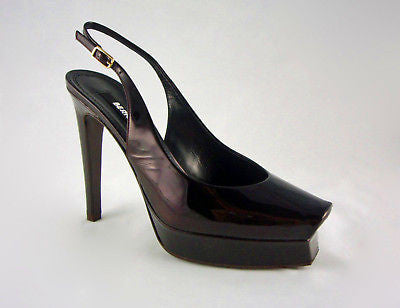 Berny Demore Patent Leather Platform Slingbacks / Sz 36.5 - Style Therapy  - 2