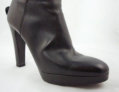 Ralph Lauren Collection Black Leather Platform Boots / Sz 6.5 - Style Therapy  - 3