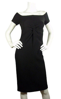 Charles Chang Lima Black Boucle Dress / Sz 4 - Style Therapy  - 1