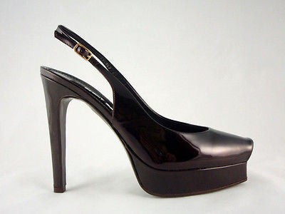 Berny Demore Patent Leather Platform Slingbacks / Sz 36.5 - Style Therapy  - 3