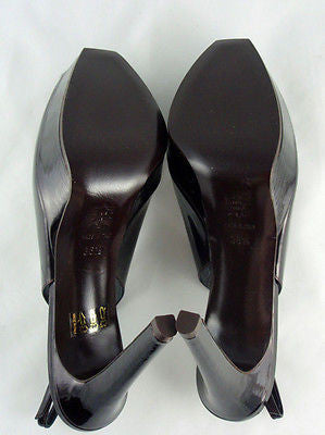 Berny Demore Patent Leather Platform Slingbacks / Sz 36.5 - Style Therapy  - 6