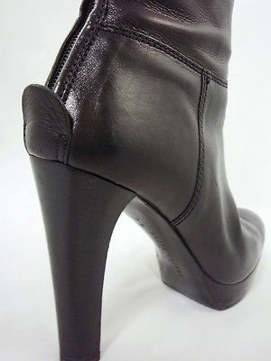 Ralph Lauren Collection Black Leather Platform Boots / Sz 6.5 - Style Therapy  - 6