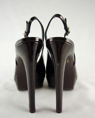 Berny Demore Patent Leather Platform Slingbacks / Sz 36.5 - Style Therapy  - 5
