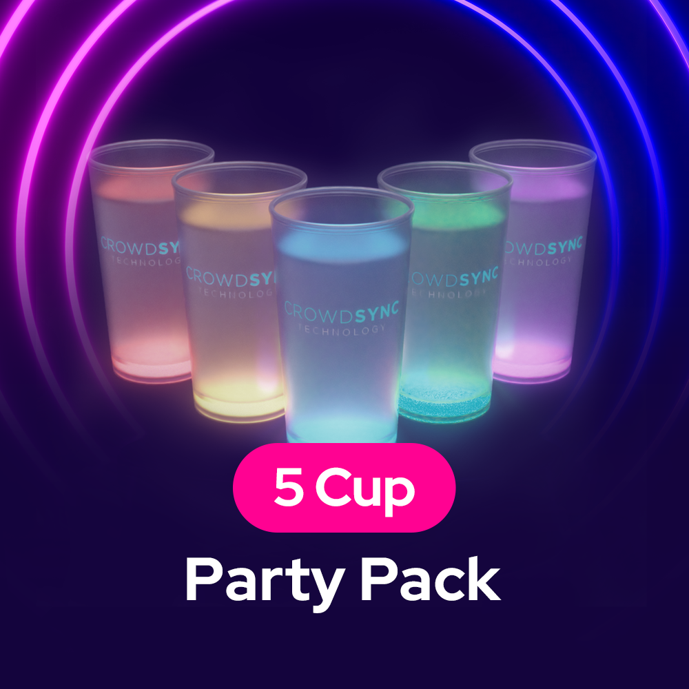 LED SoundActive Cup Party 5 Pack