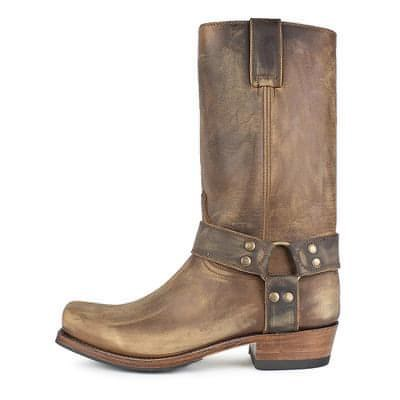 Custom boots 8833 Blues Dark Brown Roughout leather (like picture) / Without Harness / Circumference of boot shaft no more than 37cm / Size 46 (UK11)