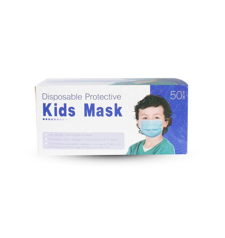Disposable and Lightweight Kids Mask - 50 Pack