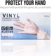 Load image into Gallery viewer, Case Pack - GEM Gloves Vinyl Powder Free Disposable Gloves - 1000 PCS