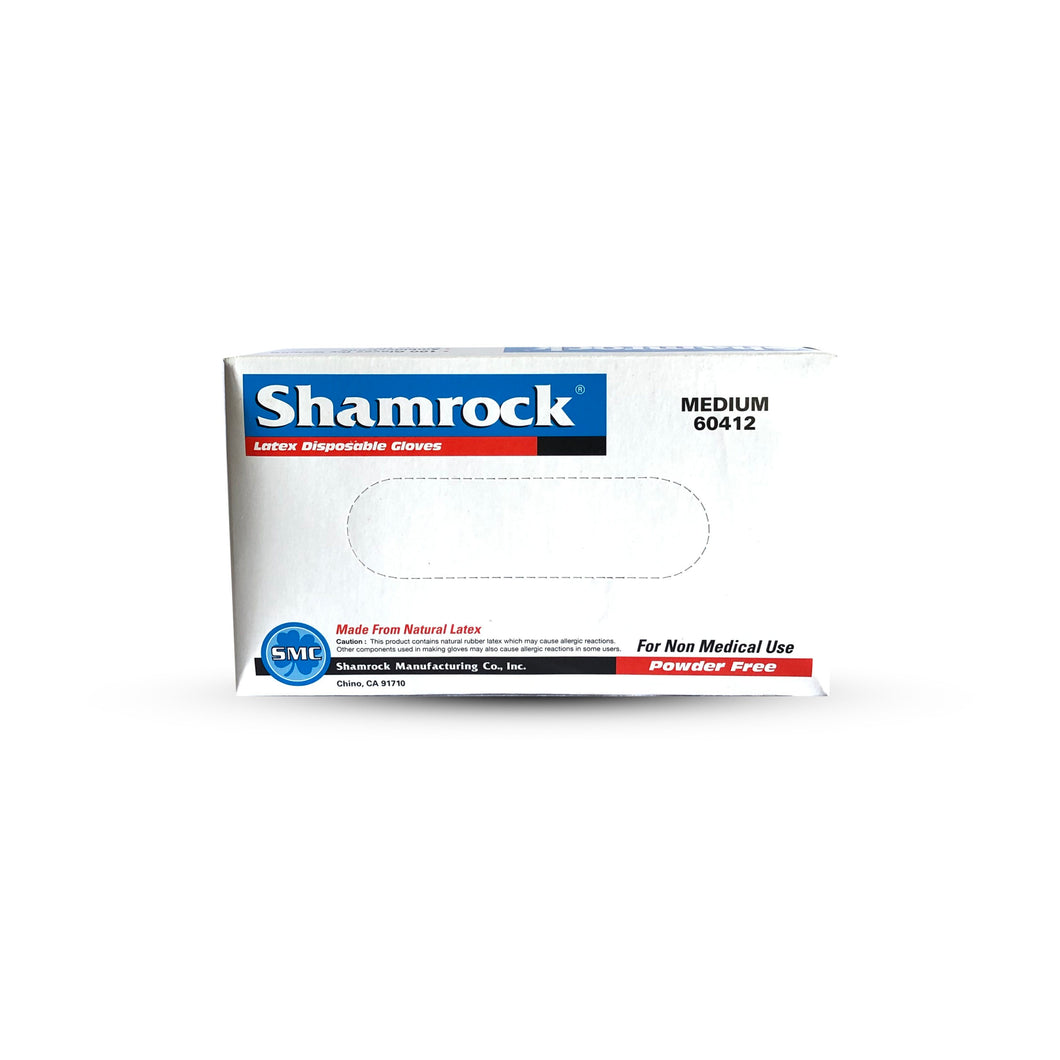 Shamrock Powder Free Latex Industrial Textured Examination Gloves/ 100 count