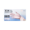 GEM Gloves Vinyl Powder Free Disposable Gloves - 100 PCS