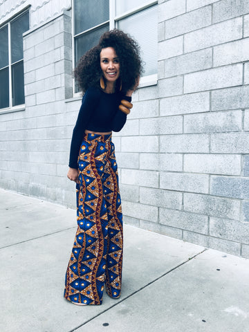 african pants wide let pants