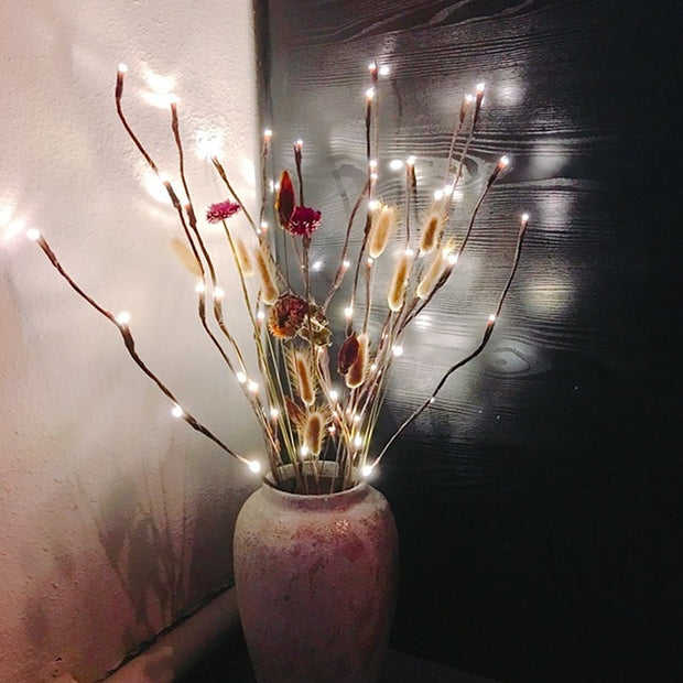 Light Garden Floral LED Willow Branch Bulbs For Home Christmas Party