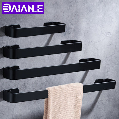 Towel Bar Black Small Wall Space Bathroom Accessories Online