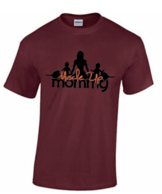 MUM CLASSIC TEE | MAROON & ORANGE