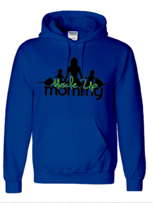 CLASSIC HOODIE | ROYAL BLUE & LIME GREEN