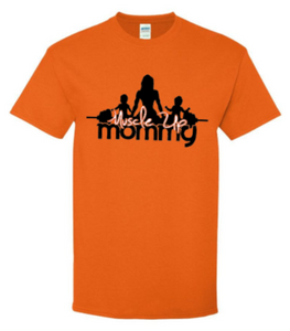 MUM Classic Tee - Safety Orange-Wht