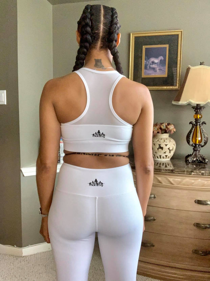 KAI ZIP-FRONT SPORTS BRA | WHITE