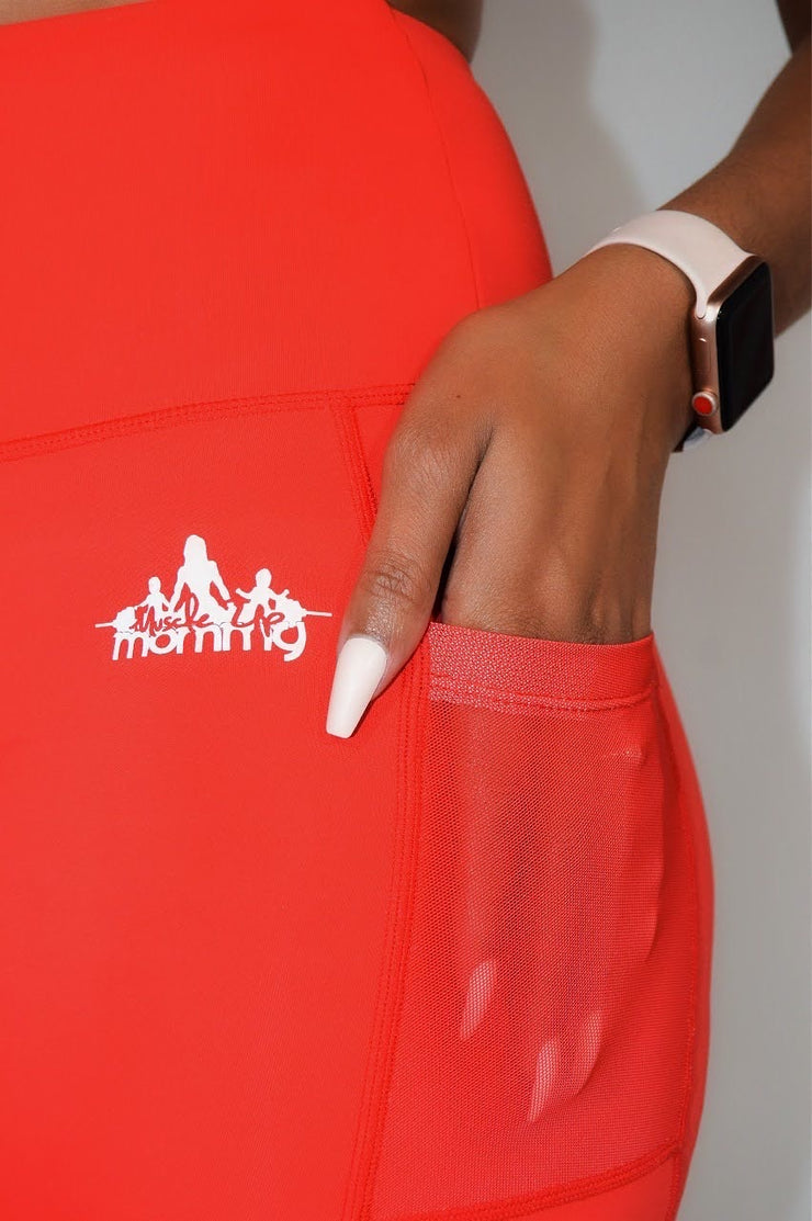 RYLANN BIKE SHORTS | SERA RED