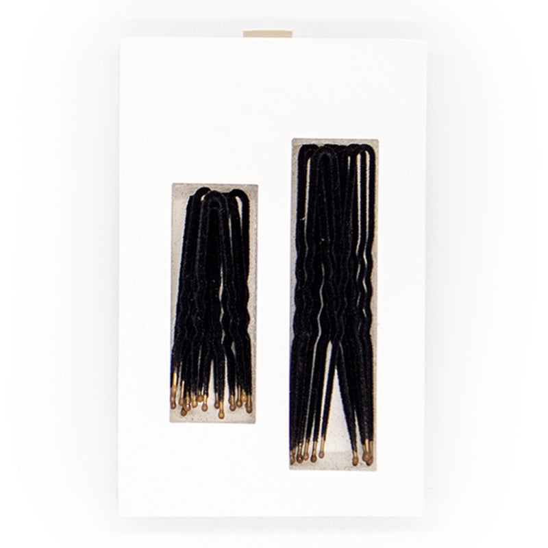 Frenchies Black Velvet Hairpins