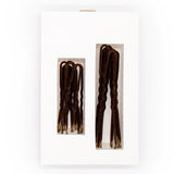 Frenchies Brown Velvet Hairpins