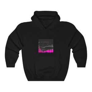 Open image in slideshow, BEAMS Love Your Presence Black + Pink Hoodie