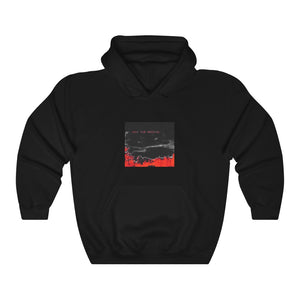 Open image in slideshow, BEAMS Love Your Presence Black + Red Hoodie