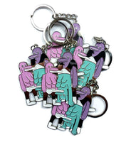 THREESOME HANDSTAND KEYRING!!!