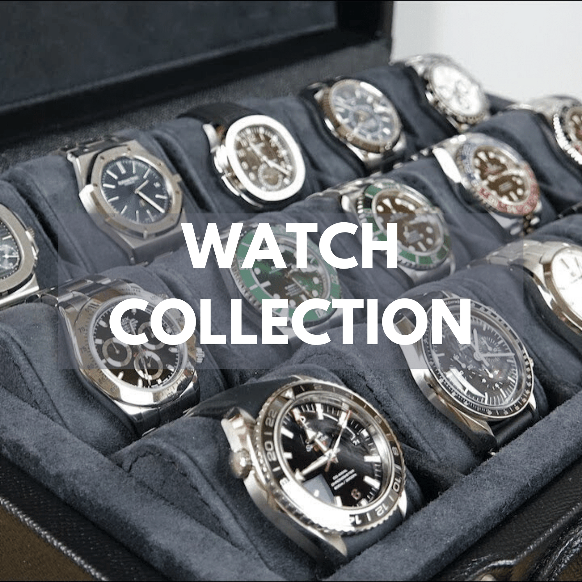 watches in a watch case